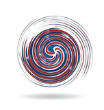 Swirly de V.S. kleurt pictogram royalty-vrije illustratie