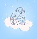 Swirly door in cloud Royalty Free Stock Photo