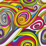 Swirly Drawn Seamless Pattern_eps Royalty Free Stock Image
