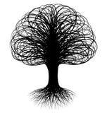 swirly drzewo ilustracja wektor