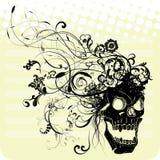 Swirly en krullende schedel Royalty-vrije Stock Afbeelding