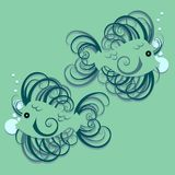 Swirly fish Royalty Free Stock Photo