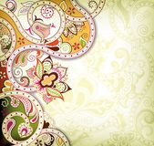 Swirly Floral Background Royalty Free Stock Images