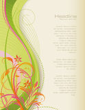 Swirly floral background. Swirly background with floral elements Royalty Free Stock Photos