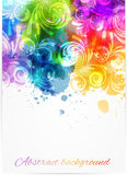 Swirly floral background Stock Photography