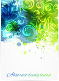 Swirly floral background Royalty Free Stock Image