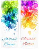 Swirly floral vertical banners Royalty Free Stock Photos