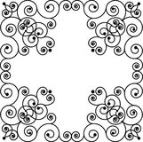 Swirly frame. Vector of black swirly frame like cross Stock Images