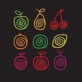 Swirly frukter Arkivfoto