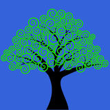 Swirly gevormde boom Stock Afbeelding