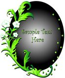 Swirly green floral. Vector, swirly green floral frame vector illustration