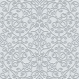 Swirly grey pattern. Ornamental grey background, swirly seamless pattern in neutral color Stock Images