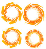 Swirly grunge  logos Stock Images