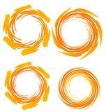 Swirly grunge logowie ilustracja wektor