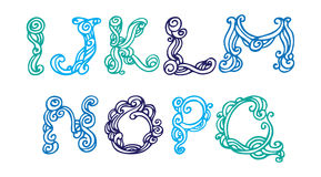 Swirly hand drawn font Royalty Free Stock Image