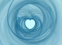 Swirly heart. Valentine abstract swirly heart shape Royalty Free Stock Images