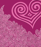 Swirly heart. Pink heart with swirl ornament, vector illustration vector illustration