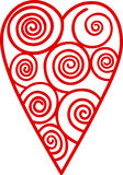 Swirly Heart Outline Royalty Free Stock Photo