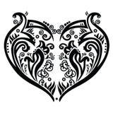 Swirly heart tatoo inspired Royalty Free Stock Image