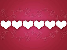 Swirly Hearts Background Royalty Free Stock Photo