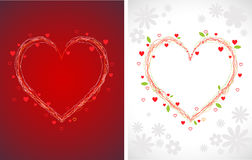 Swirly hearts backgrounds. Swirly valentines hearts greeting cards backgrounds (letter sized paper proportion Royalty Free Stock Photo