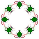 Swirly holiday wreath Royalty Free Stock Photo