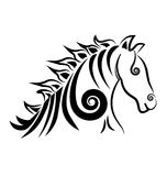 Swirly Horse logo Stock Images