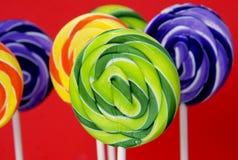 swirly kolorowi lizaki fotografia royalty free