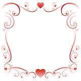 Swirly love border 01 Stock Photography