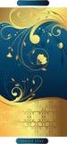 Swirly mit Blumen   Stockbilder