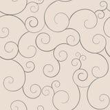 Swirly modelli senza cuciture, colori del caffè. Illustrazione di Stock