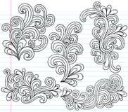 Swirly Notizbuch kritzelt vektorabbildung Lizenzfreies Stockfoto