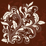 Swirly Ornamental Leaves Flourish Design Element Stock Image