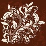 Swirly Ornamental Leaves Flourish Design Element. Ornamental Flourishes and Vines Swirly Silhouette Vector Illustration Design Elements stock illustration