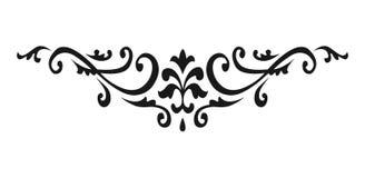 Swirly ornamento filigranas Redemoinhos vitorianos do ornamental e linhas simples rolos Enfeite decorativo da caligrafia ilustração royalty free