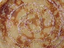 Swirly pannkaka arkivfoton