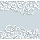 Swirly-Papierrahmen Stockfotografie
