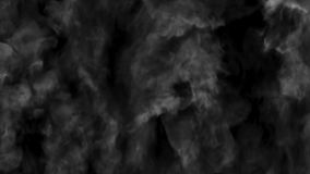 Swirly a parede fumarento preto e branco aumenta acima video estoque