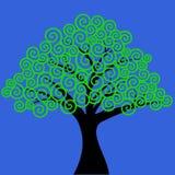 Swirly patterned tree vector illustration