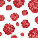 Swirly red roses. On background Royalty Free Stock Photo