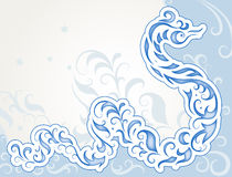 Swirly Schlange Lizenzfreies Stockfoto