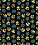 Swirly seamless pattern Stock Image