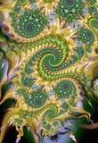 Swirly spiralmodell royaltyfri illustrationer