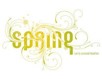 Swirly spring headline Stock Photography