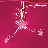 Swirly Star Pink Background Stock Photos