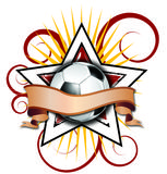 Swirly Star Soccer Illustration Royalty Free Stock Images