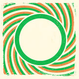Swirly-Streifen entwerfen mit Aufkleber in den irischen nationalen Farben Lizenzfreie Stockfotografie
