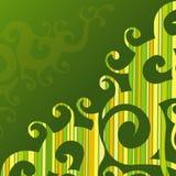 Swirly Striped Background. Swirly Striped Green Orange and Yellow Background Royalty Free Stock Photo