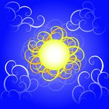 Swirly sun Royalty Free Stock Photo