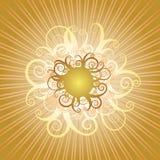 Swirly Sun Photographie stock libre de droits